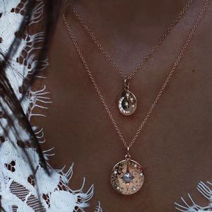 Jewelry - 4 for $25⚡️moon & pearl in coin layered necklace